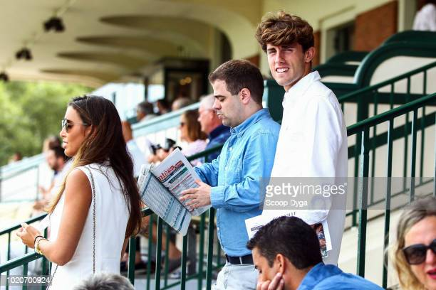 Alvaro Odriozola new Real Madrid's player during the meeting of Deauville Barriere at Hippodrome De Deauville on August 21 2018 in Deauville France