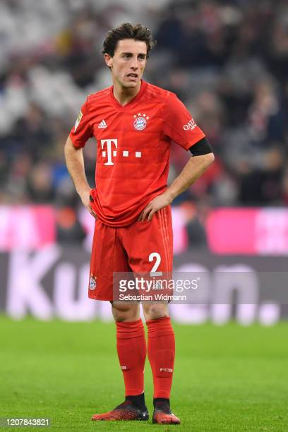 Alvaro Odriozola of Bayern Muenchen looks on during the Bundesliga match between FC Bayern Muenchen and SC Paderborn 07 at Allianz Arena on February...
