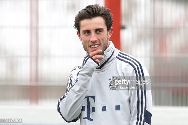 Alvaro Odriozola of FC Bayern Muenchen during a training session at Saebener Strasse training ground on January 22 2020 in Munich Germany