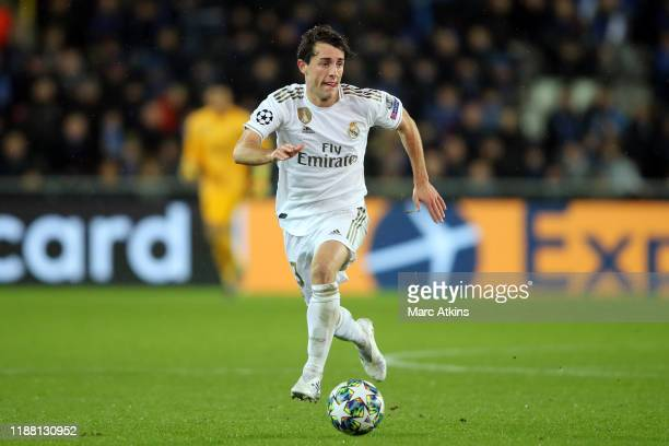 Alvaro Odriozola of Real Madrid during the UEFA Champions League group A match between Club Brugge KV and Real Madrid at Jan Breydel Stadium on...