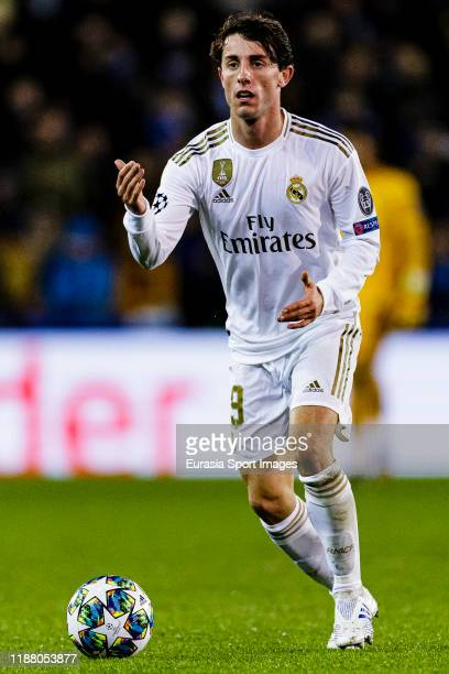 Alvaro Odriozola of Real Madrid in action during the UEFA Champions League group A match between Club Brugge KV and Real Madrid at Jan Breydel...