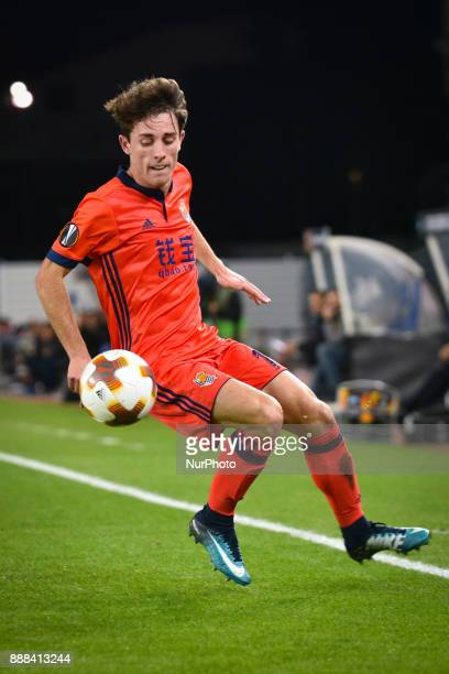 Alvaro Odriozola of Real Sociedad during the UEFA Europa League Group L football match between Real Sociedad and Zenit at the Anoeta Stadium on 7...