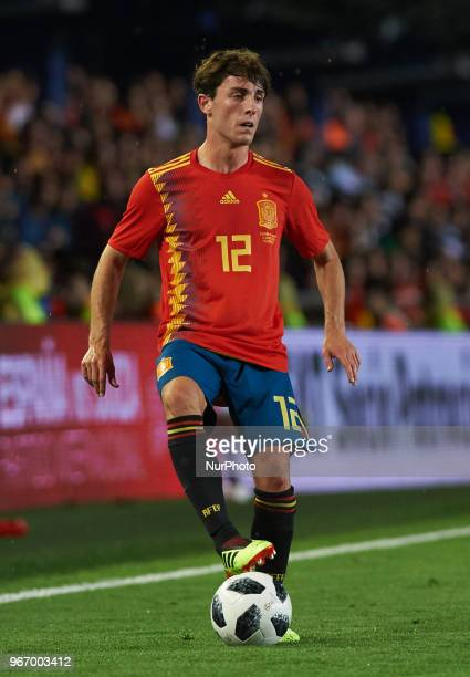 Alvaro Odriozola of Spain during the International friendly football match between Spain and Suisse at La Ceramica Stadium Vilareal on June 3 2018