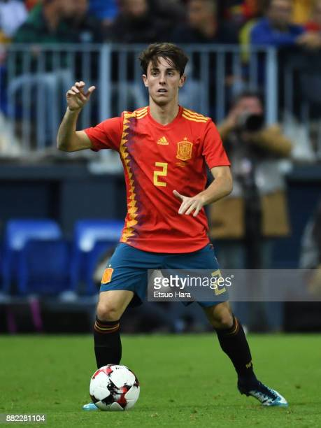Alvaro Odriozola of Spain in action during the international friendly match between Spain and Costa Rica at La Rosaleda Stadium on November 11 2017...