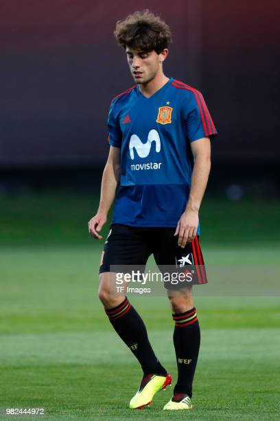 Alvaro Odriozola of Spain looks on during a training session on June 8 2018 in Krasnodar Russia