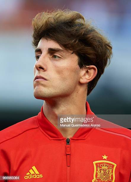 Alvaro Odriozola of Spain looks on prior to the International Friendly match between Spain and Switzerland at Estadio de La Ceramica on June 3 2018...
