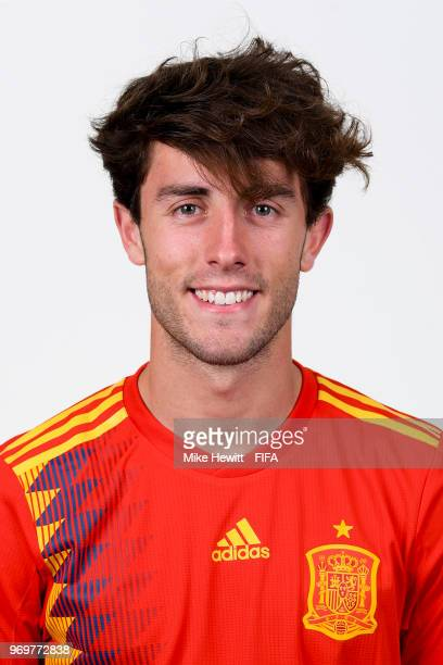 Alvaro Odriozola of Spain poses for a portrait during the official FIFA World Cup 2018 portrait session at FC Krasnodar Academy on June 8 2018 in...