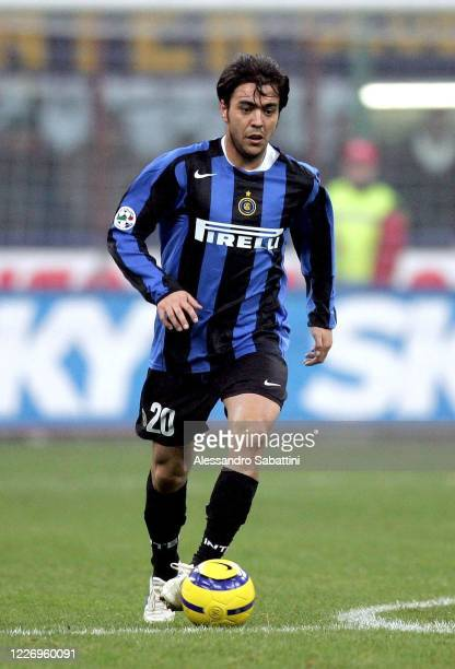 Alvaro Recoba of FC Internazionale in action during the Serie A 2004-05 Italy