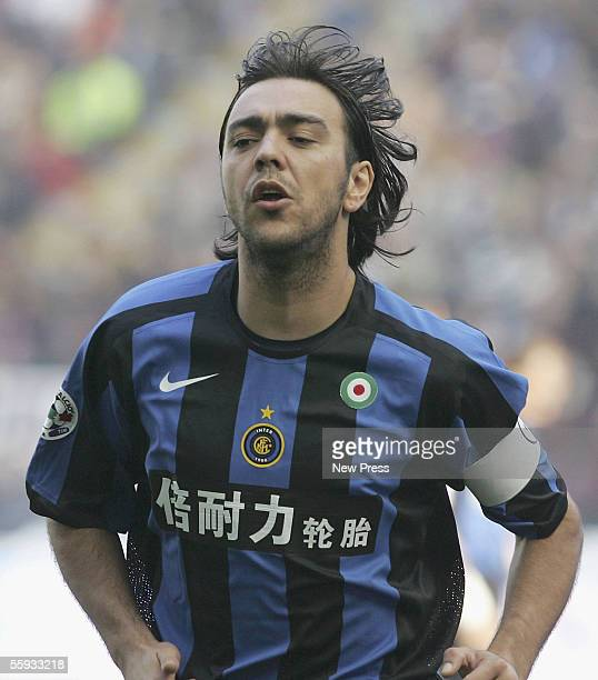 Alvaro Recoba of Inter in action during the Seria A match between Inter Milan and Livorno at San Siro Stadium on October 16, 2005 in Milan, Italy.