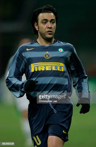 Alvaro Recoba of Inter Milan in action during the Champions League Group H match between Inter Milan and FC Artmedia Bratislava at the Giuseppe...
