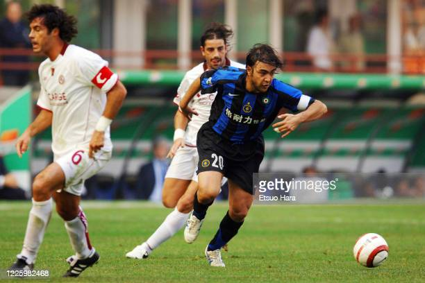 Alvaro Recoba of Inter Milan in action during the Serie A match between Inter Milan and Livorno at the Stadio Giuseppe Meazza on October 16, 2005 in...