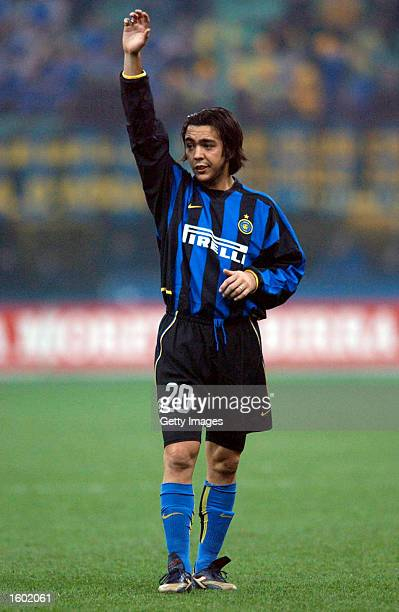 Alvaro Recoba of Inter Milan in action during the Serie A match between Inter Milan and Udinese, played at the 'Giuseppe Meazza' San Siro Stadium,...