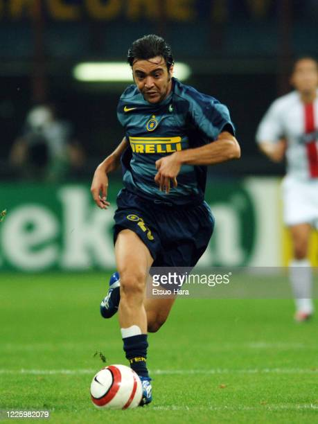 Alvaro Recoba of Inter Milan in action during the UEFA Champions League Group H match between Inter Milan and Glasgow Rangers at the Stadio Giuseppe...