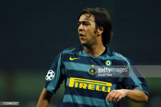 Alvaro Recoba of Inter Milan is seen during the UEFA Champions League Group H match between Inter Milan and Glasgow Rangers at the Stadio Giuseppe...