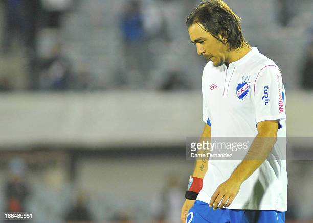 Alvaro Recoba of Nacional leaves the field after loosing a match between Nacional de Montevideo from Uruguay and Real Garcilaso from Peru as part of...