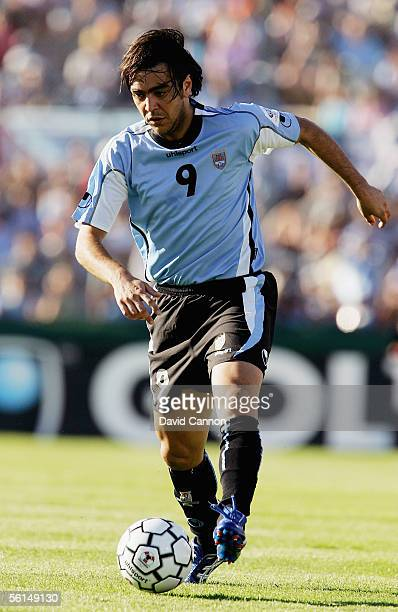 Alvaro Recoba of Uruguay during the FIFA World Cup 1st Leg playoff match between Uruguay and Australia at the Centenario Stadium on November 12 2005...