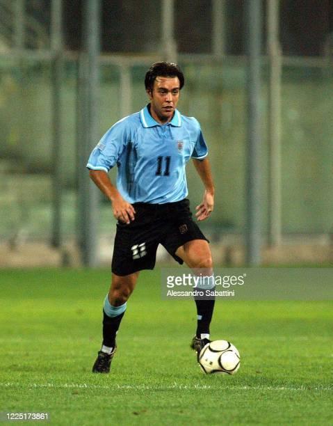 Alvaro Recoba of Uruguay in action 2003-04.