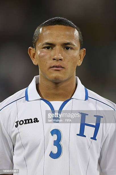 Alvaro Romero of Honduras during the Group A FIFA U17 World Cup match between Honduras and Brazil at Ras Al Khaimah Stadium on October 23 2013 in Ras...