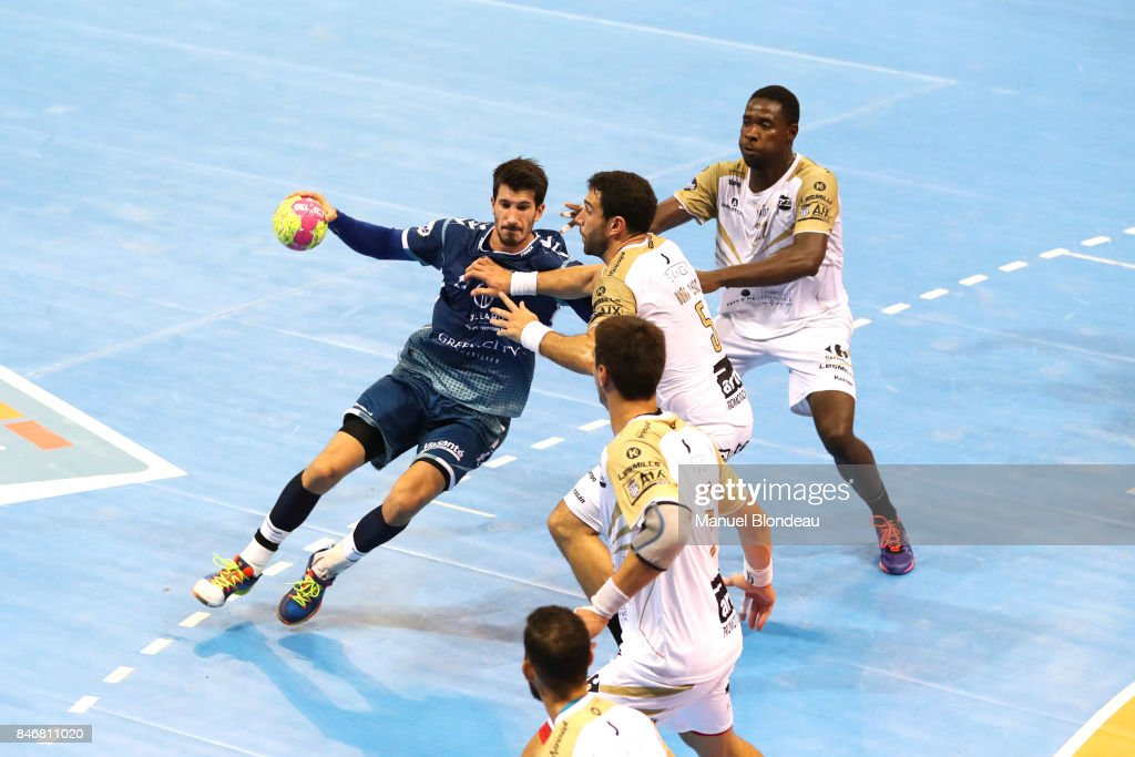 Alvaro Ruiz Sanchez of Toulouse during Lidl Star Ligue match between Fenix Toulouse and Pays D'aix Universite Club on September 13, 2017 in Toulouse, France.