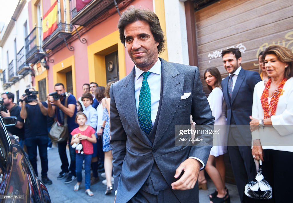 Alvaro Sanchis during his wedding with Sibi Montes at Parroquia Santa Ana on October 7, 2017 in Seville, Spain.