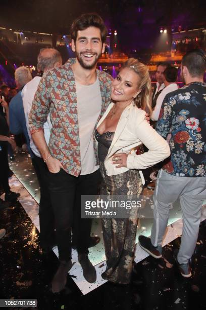 Alvaro Soler and Anastacia during the tv show 'Schlagerbooom 2018 Alles funkelt Alles glitzert' at Westfalen Stadium on October 20 2018 in Dortmund...