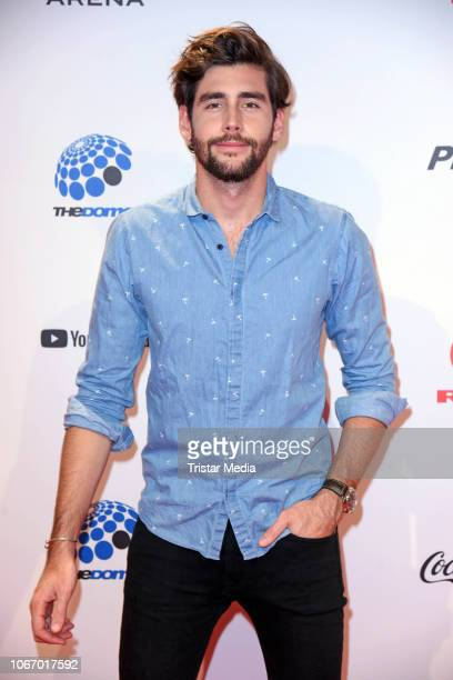 Alvaro Soler arrives at The Dome 2018 music show on November 30 2018 in Oberhausen Germany