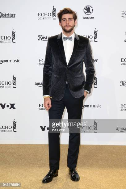Alvaro Soler arrives for the Echo Award at Messe Berlin on April 12 2018 in Berlin Germany