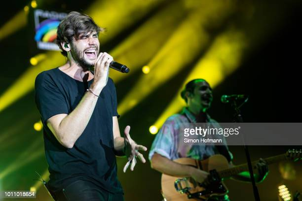 Alvaro Soler performs during the 'Musik@Park' Summer Party at Europapark on August 4 2018 in Rust Germany