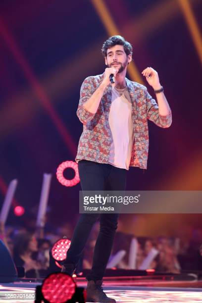 Alvaro Soler performs during the tv show 'Schlagerbooom 2018 Alles funkelt Alles glitzert' at Westfalen Stadium on October 20 2018 in Dortmund Germany