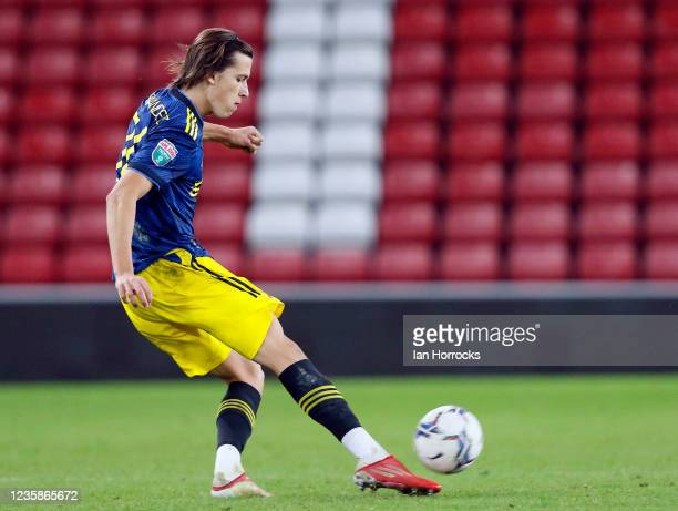 Alvero Fernandez of Manchester United during the Papa John's Trophy match between Sunderland and Manchester United at Stadium of Light on October 13,...