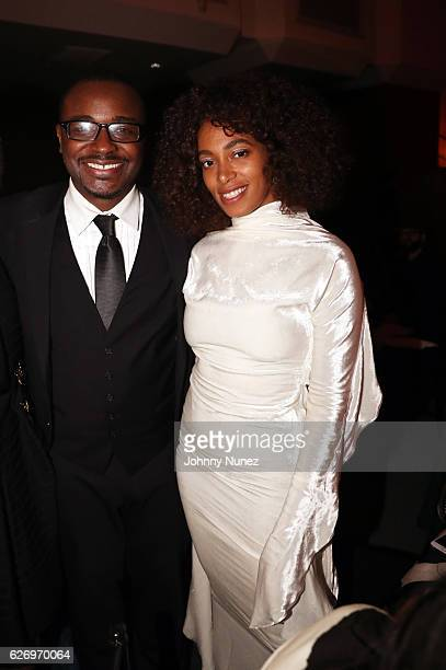 Alvin Ailey American Dance Theater Artistic Director Robert Battle and recording artist Solange Knowles attend An Evening of Ailey And Jazz 2016...