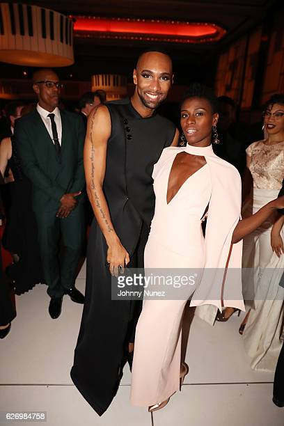 Alvin Ailey American Dance Theater company dancer Sean Aaron Carmon and Rachael McLaren attend An Evening of Ailey And Jazz 2016 Opening Night Gala...