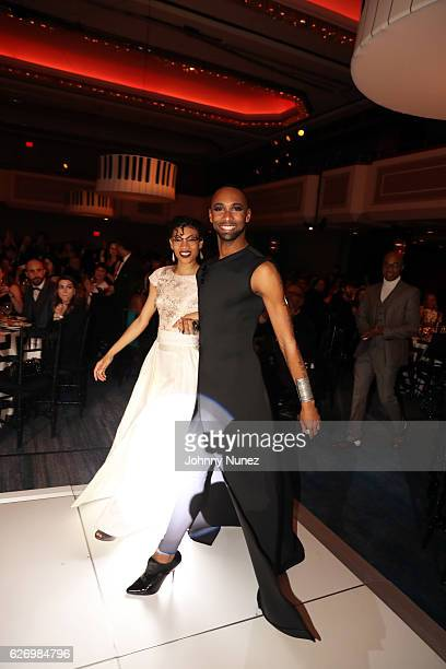 Alvin Ailey American Dance Theater company dancer Sean Aaron Carmon attends An Evening of Ailey And Jazz 2016 Opening Night Gala Benefit at New York...