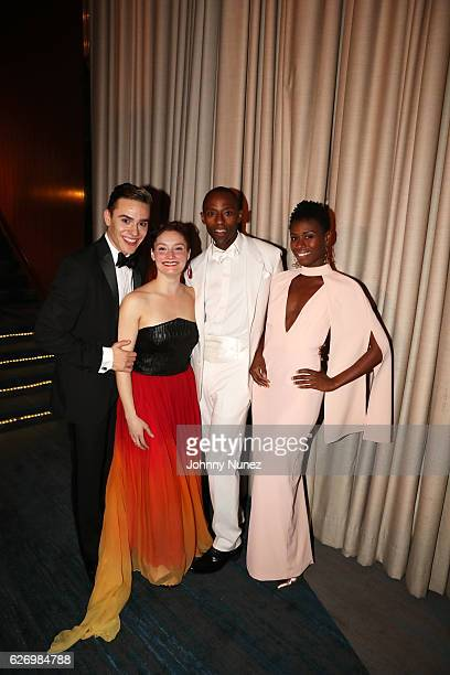 Alvin Ailey American Dance Theater company dancers Michael Francis McBride Megan Jakel Samuel Lee Roberts and Rachael McLaren attend An Evening of...