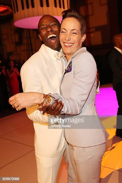 Alvin Ailey American Dance Theater company dancers Samuel Lee Roberts and Elisa Clark attend An Evening of Ailey And Jazz 2016 Opening Night Gala...