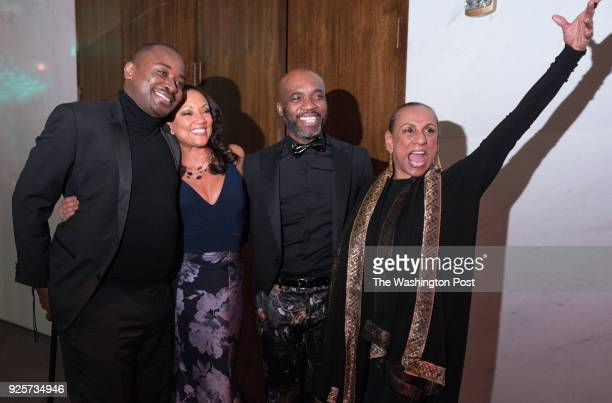 Alvin Ailey Artistic Director Robert Battle Linda Denise FisherHarrell Troy Powell and Sarita Allen pose for a photo at the Alvin Ailey American...