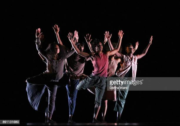 Alvin Ailey Dancers perform 'Shelter' during the Alvin Ailey Dress Rehearsals at New York City Center on December 12 2017 in New York City