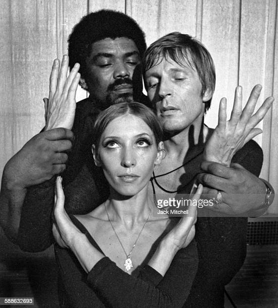 """Alvin Ailey photographed in June 1971 with ABT dancers Natalia Makarova and Erik Bruhn for his ballet """"The River"""" which he based on the music of..."""
