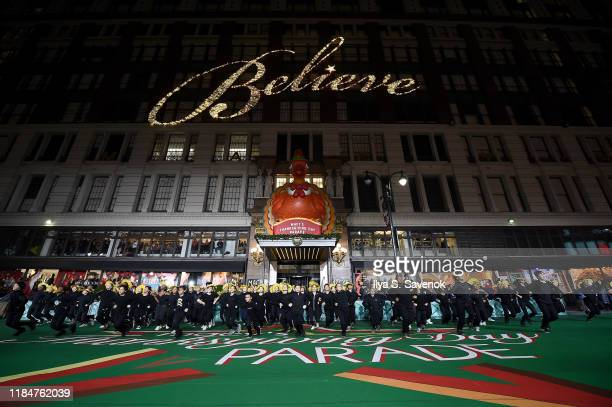 Alvin Ailey School rehearses In preparation for the 93rd annual Macy's Thanksgiving Day Parade at Macy's Herald Square on November 25 2019 in New...