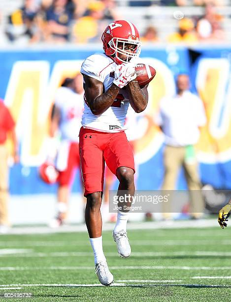 Alvin Bailey of the Youngstown State Penguins in action during the game against the West Virginia Mountaineers at Mountaineer Field on September 10...
