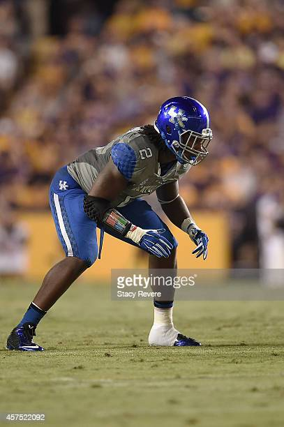 e4c9df8bf9d Alvin Dupree of the Kentucky Wildcats anticipates a play during a game  against the LSU Tigers
