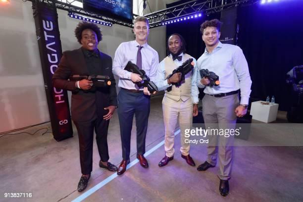 Alvin Jones Chase Litton Patrick Mahomes and Aaron Jones attend Leigh Steinberg Super Bowl Party 2018 on February 3 2018 in Minneapolis Minnesota