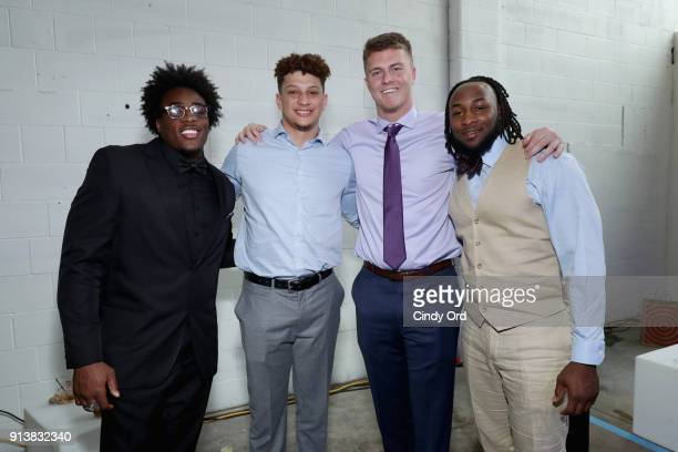 Alvin Jones Patrick Mahomes Chase Litton and Aaron Jones attend Leigh Steinberg Super Bowl Party 2018 on February 3 2018 in Minneapolis Minnesota