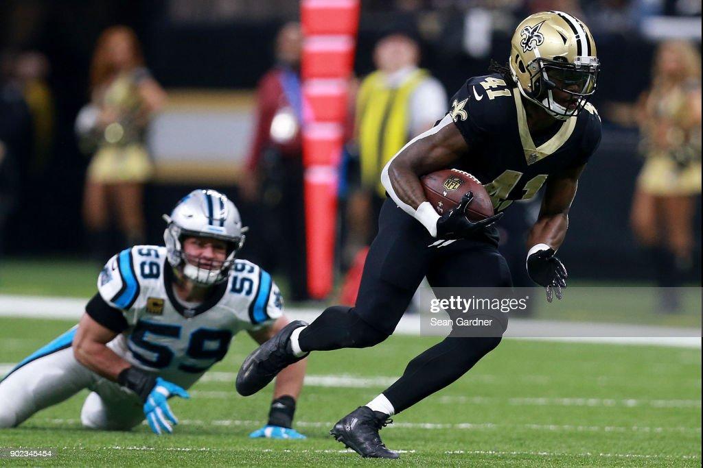 Wild Card Round - Carolina Panthers vs New Orleans Saint : News Photo
