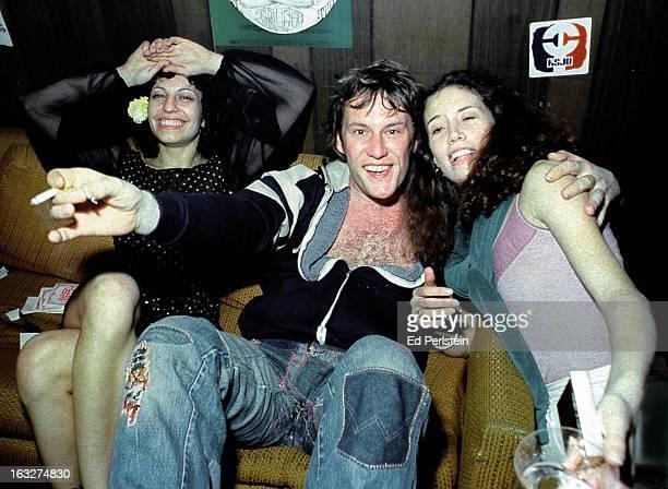 Alvin Lee enjoys himself backstage at Winterland in May 1978 in San Francisco California