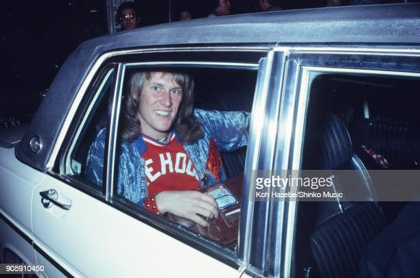 Alvin Lee of Ten Years After in a car May 1972 Tokyo Japan