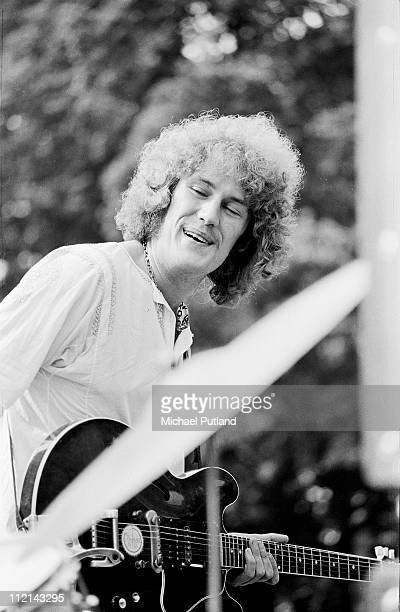 Alvin Lee of Ten Years After performs on stage at a free concert in Hyde Park London 24th August 1968