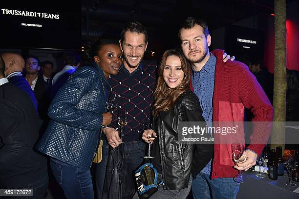Alvin Ludovica Sauer and Alessandro Cattelan attend the Trussardi Jeans FW 15/16 event at Laboratori Ansaldo Scala on November 17 2014 in Milan Italy