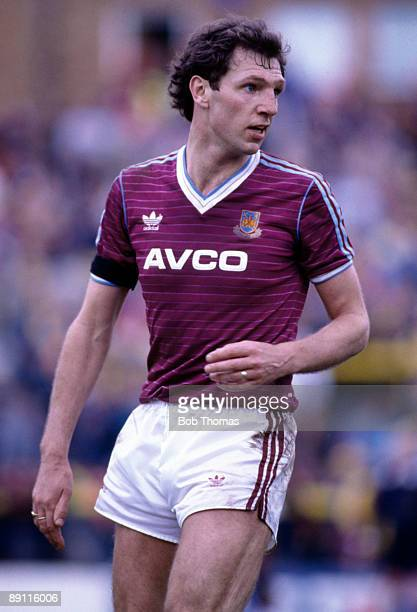 Alvin Martin of West Ham United during the Watford v West Ham United Division 1 match played at Vicarage Road in Watford on the 19th April 1986.