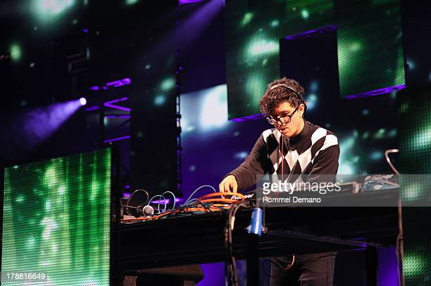 Alvin Risk performs during Electric Zoo 2013 at Randall's Island on August 30 2013 in New York City